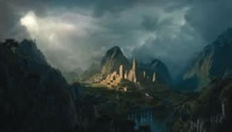 Fantasy digital matte painting