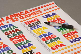 Raising money for charity through football and typography