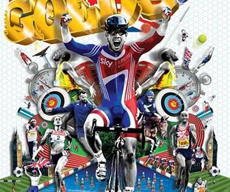 Matt Herring discusses work on The Sun's Olympic supplement cover illustration