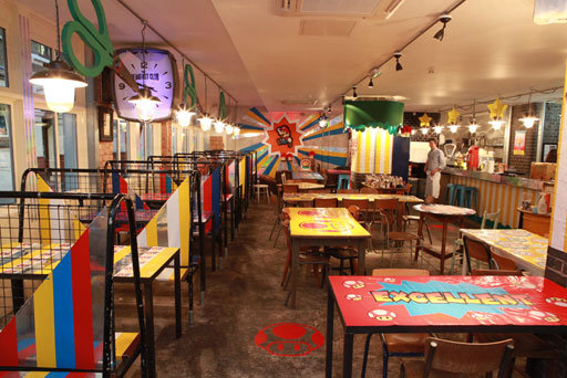 Camille Walala Turns London Caf 233 Into A Paper Mario Themed