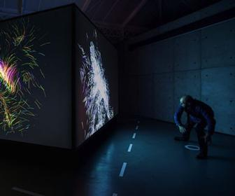 Universal Everything's Flyknit uses a Kinect to turn movement into colourful swirls