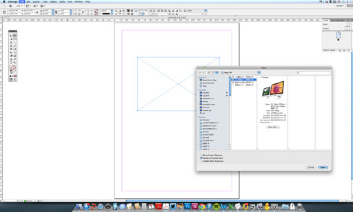 How to place an image in Adobe InDesign