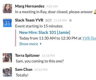 Don't forget that meeting! Slack adds Google Calendar integration so you won't