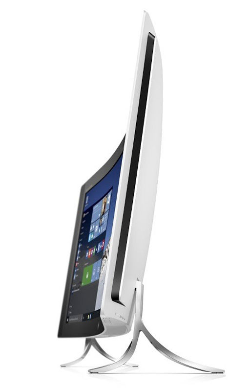 hp envy curved all in one left facing profile