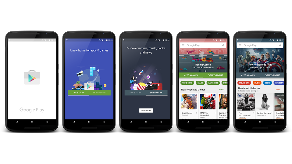 how to get the new google play store
