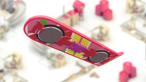 animation reveals how back to the future ii 39 s hoverboards. Black Bedroom Furniture Sets. Home Design Ideas