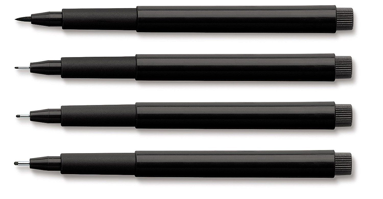 Color drawing pens for artists - A Highly Regarded Pen That Is Made For Drawing Available In Three Classic Drawing Colours Black Sanguine And Sepia And Four Nib Sizes It Is Sturdy
