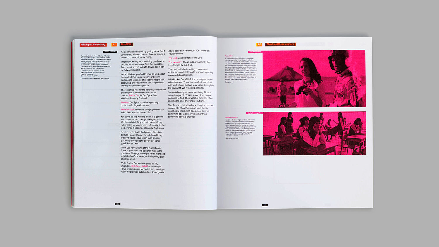 The Manual design also had to be sustainable, reflecting the non-profit's  new direction toward using creativity for positive impact.