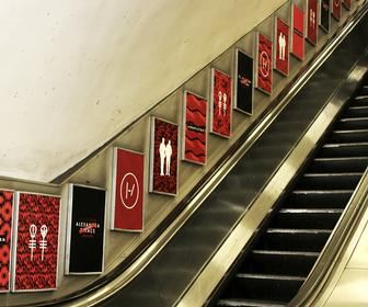Twenty One Pilots fan art takes over Wood Green tube station