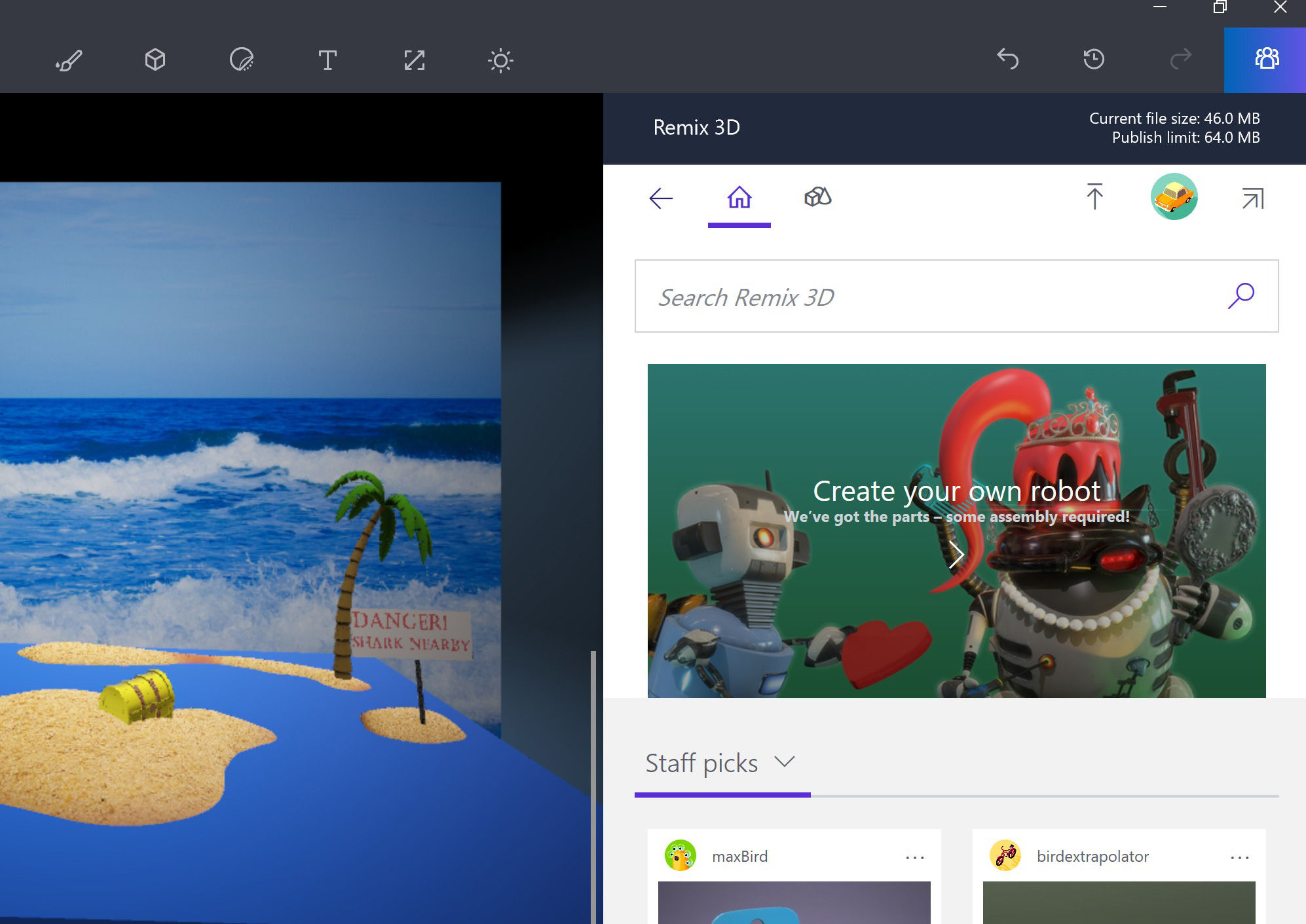 How to use microsoft paint 3d the new version of the for How to paint 3d