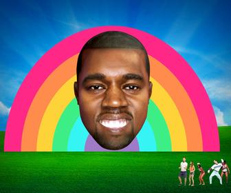 A giant inflatable Kanye West head to appear at this years Bestival