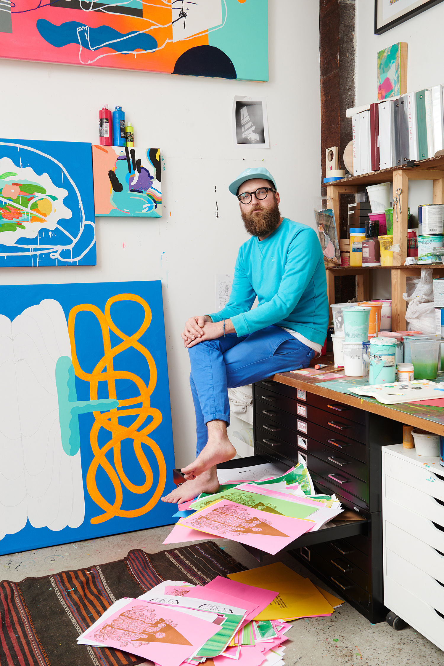 Artist Mike Perry's Broad City colouring book is to share