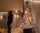 This truly bizarre Christmas tree is entirely made out of plasticine