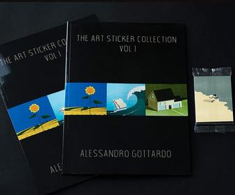 A Panini-style album of famous illustrators brings you a classier sort of stickers