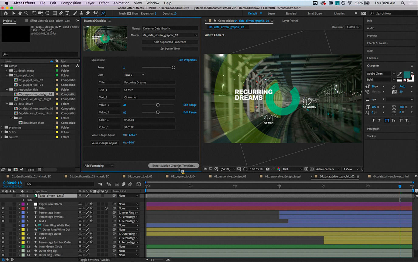 after effects premiere pro and character animator 39 cc 2019 39 features detailed by adobe news. Black Bedroom Furniture Sets. Home Design Ideas