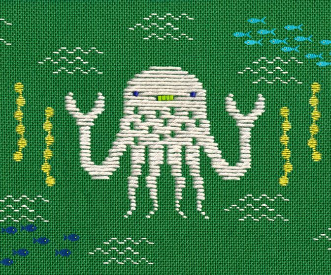 This animated stop motion music video for They Might Be Giants is made entirely out of embroidery