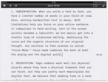 Writer for iPad