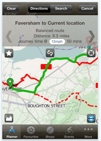 Bike Hub Cycle Journey planner for iPhone, iPod touch and iPad