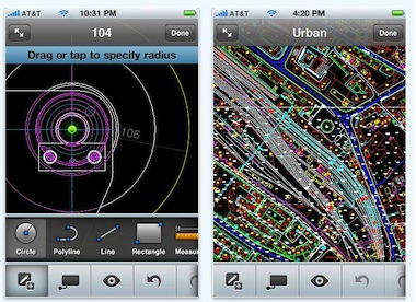 AutoCAD WS for iPhone, iPod touch and iPad