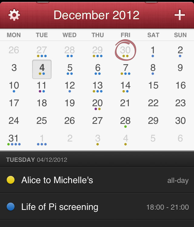 iphone calendar app fantastical review a slickly designed calendar iphone app 11670