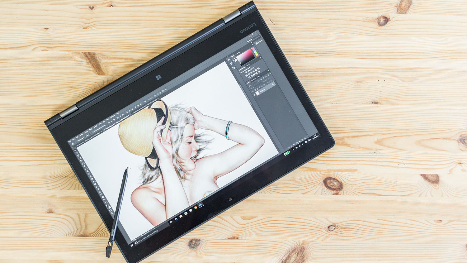 Drawing Smooth Lines In Photo With Tablet : Lenovo thinkpad p yoga review digital arts