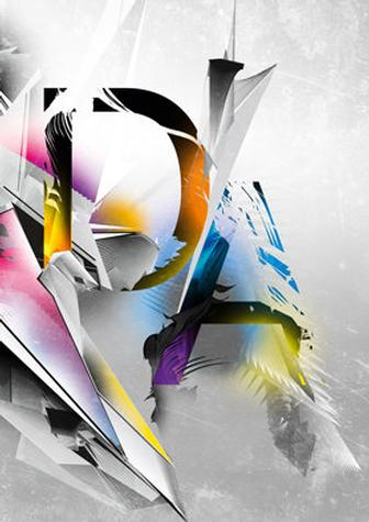 Colourful type art