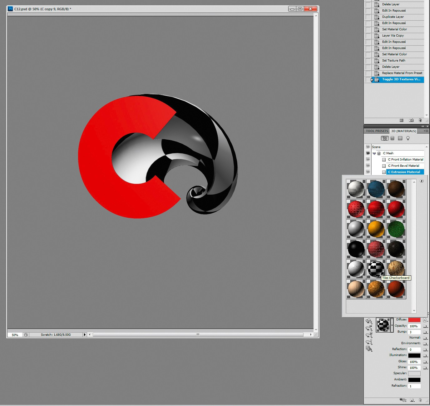 Poster design using photoshop - Photoshop Tutorial Create 3d Type Art Using Photoshop Cs5 Digital Arts