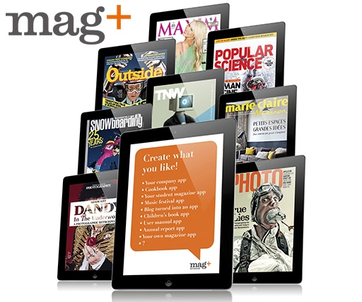 Design an interactive magazine layout for the iPad and iPhone