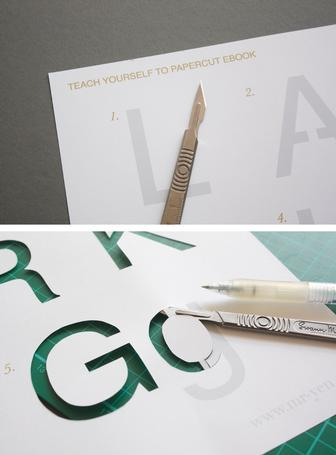 How to papercut letters and type