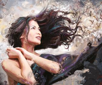 Paint a stunning digital portrait from a photo