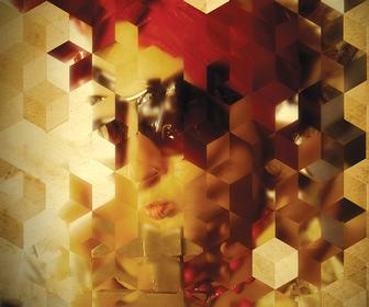 Turn a portrait photo into an intriguing, abstract mosaic of cubes