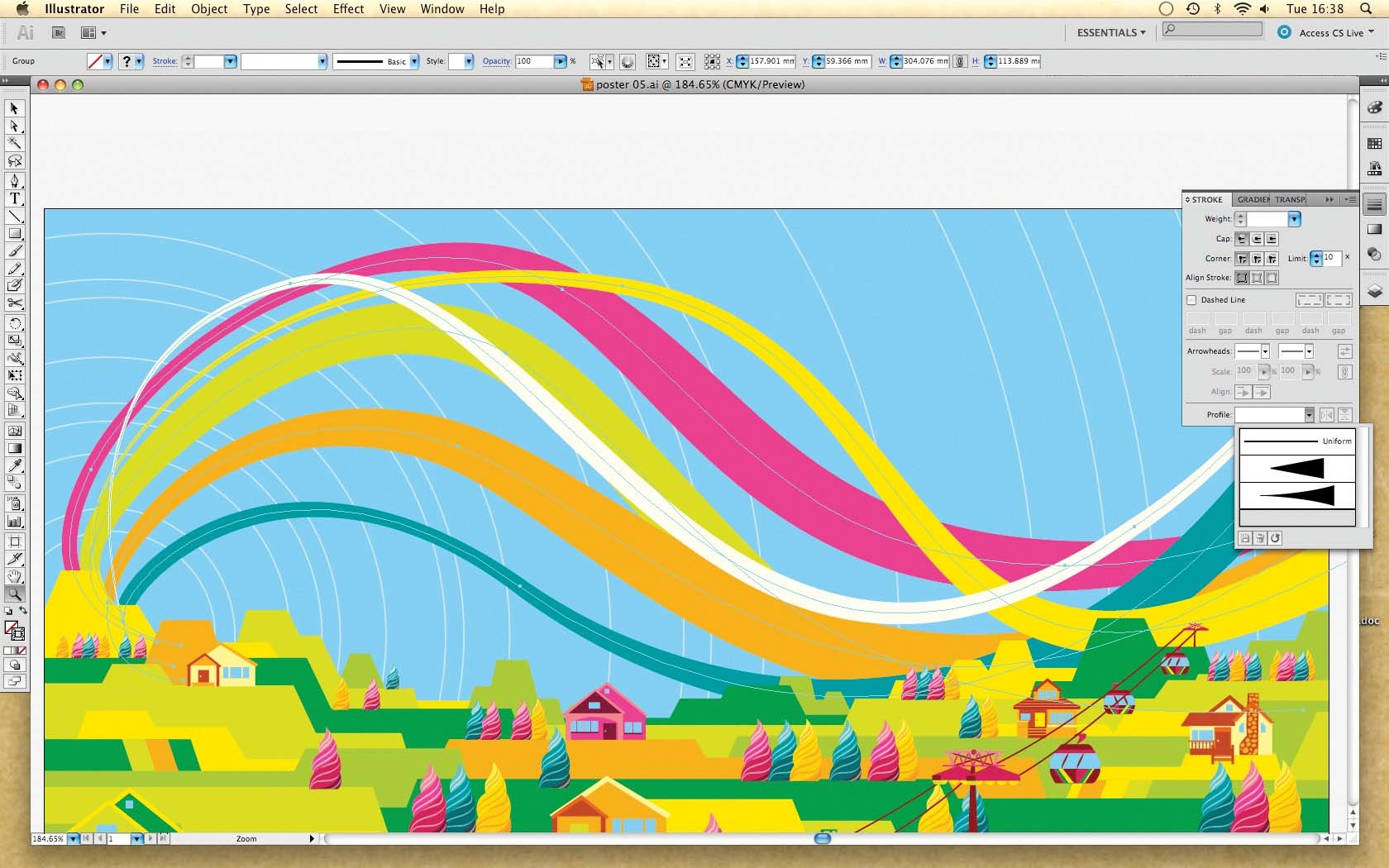 how to turn off perspective tool in illustrator cs5