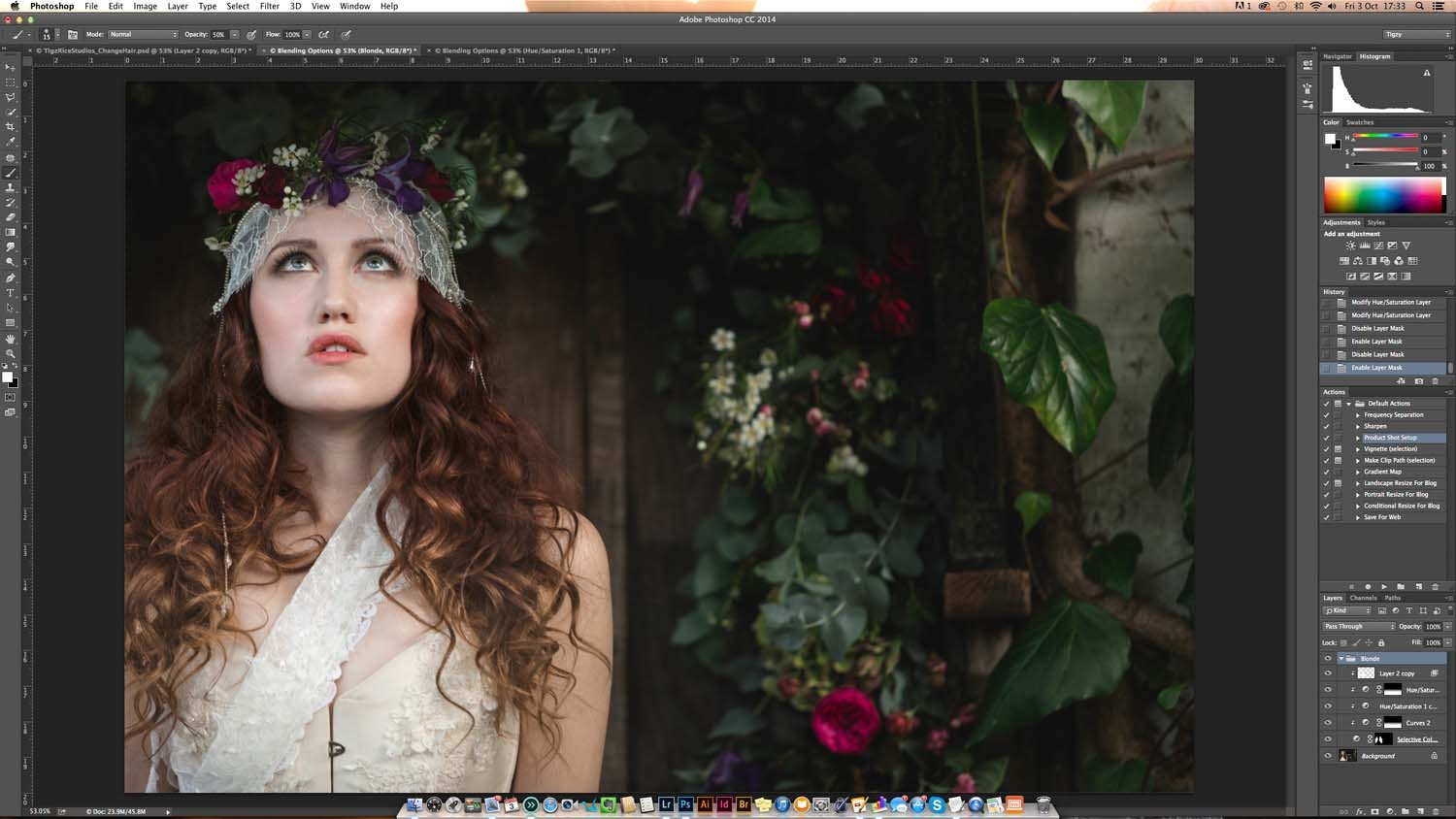 How To Change Hair Colour In Photoshop Digital Arts