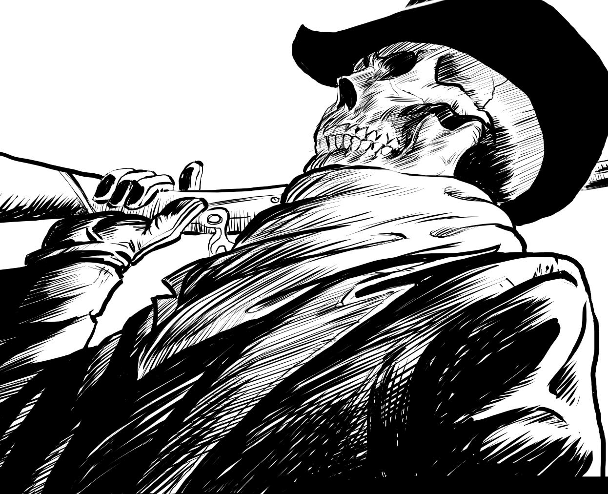 Line Art Shading : Painter tutorial create a digital comic from sketch to