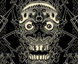 Design a decorative skull-themed repeating pattern