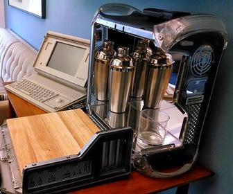 These old Apple Power Mac G4s have been converted into portable bars
