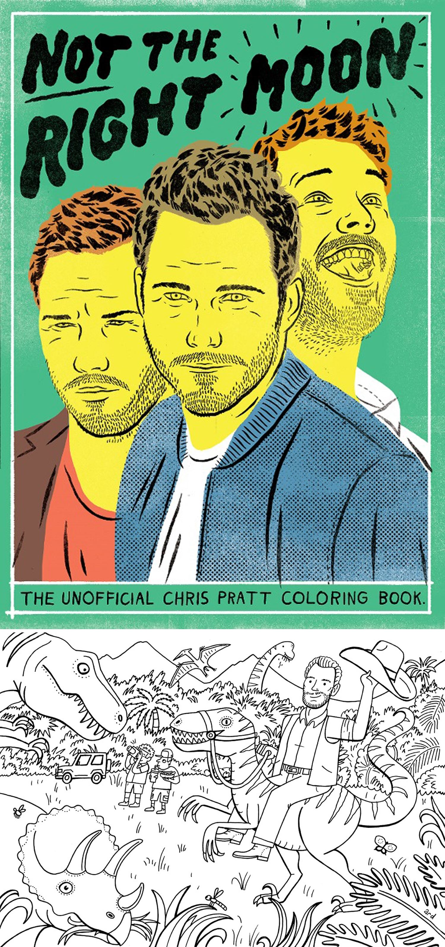 Make a coloring book page with photoshop - Buy Not The Right Moon The Chris Pratt Colouring Book