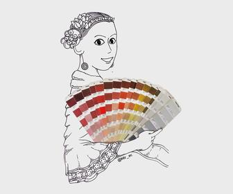 10 delightful illustrations drawn around Pantone swatchbooks