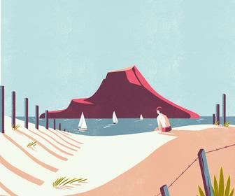 Tom Haugomat's illustrations have us longing for summer holidays