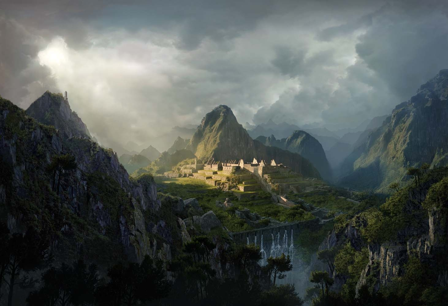photoshop tutorial create an epic digital matte painting ForMatte Painting