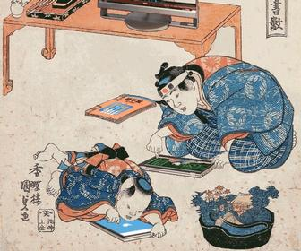 These wonderful animated GIFs add tech to Japanese prints