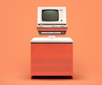 Wonderful retouched photos show what old computers looked like brand new