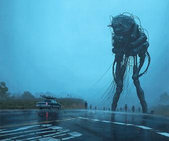 Simon Stålenhag's Incredible Paintings Show an Alien Invasion That has Gone Wrong