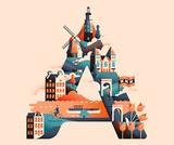The Wanderlust Alphabet beautifully brings together Travel, Typography & Illustration