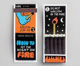 15 matchbooks with incredible artworks by leading illustrators