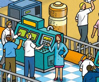 These clever Where's Wally-style illustrations highlight the lack of women in science and tech