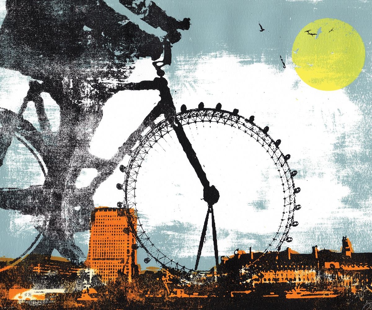Katie Edwards' country-meets-city screenprints are beautifully dreamy