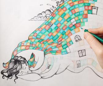 Why coloured pencil illustrations are on trend right now