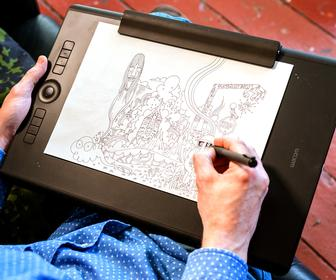 Pete Fowler discovers why the new Wacom Intuos Pro tablet is perfect for multi-disciplinary artists