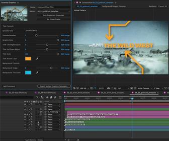 After Effects and Premiere Pro CC 2017 updated to make motion graphics and audio easier